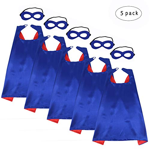Verrückte Superhelden Kostüm - 5 Stück Jungen Mädchen Superheld Umhänge