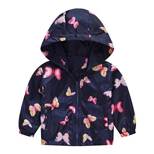 nder Baby Mädchen Jungen Kapuzen Jacke Camouflage Schmetterling Drucken Frühling Kapuzenmantel Jacke Tops (Marine, 12-18Monate) ()
