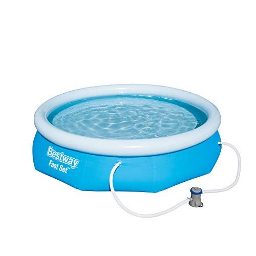Bestway Fast Set Pool Set, mit Filterpumpe, blau, rund 305x76 cm