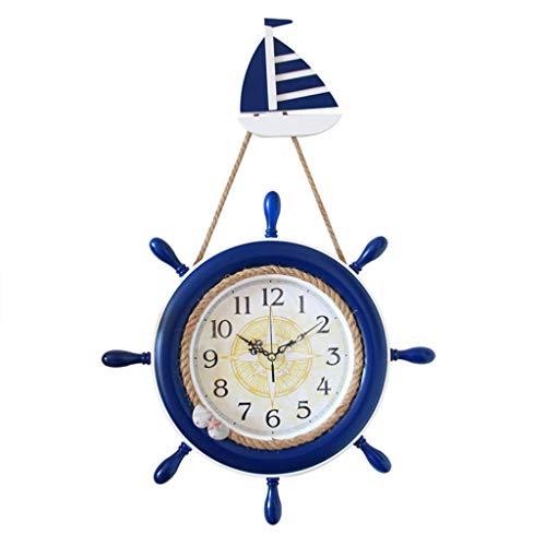SN Decor Retro Wanduhr, Vintage Rustikale Großes Boot Ruder Swing Uhren Aufhängen Wohnzimmer Tisch Mute Pendeluhr Quarzuhr