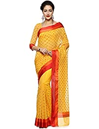 Soch Yellow Cotton Embroidered Saree