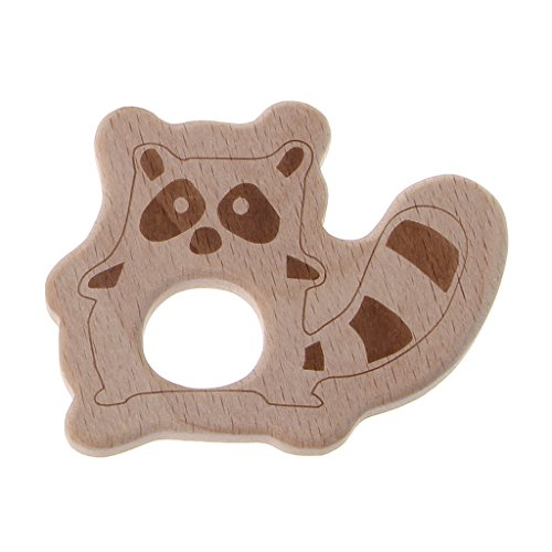 Eukalyptus-bar (ZOUCY Holz Beißring Tier Eukalyptus Beißring Baby Pflege Spielzeug Kauen Spielzeug Bär)