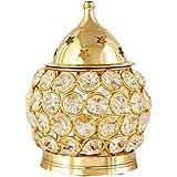 Fashion Bizz Brass Decorative Akhand Diya (Gold_24 x 11 x 7 cm)