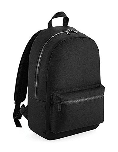 Bedruckbarer Essential Fashion Rucksack mit voll verstellbaren Schulterriemen (Black)
