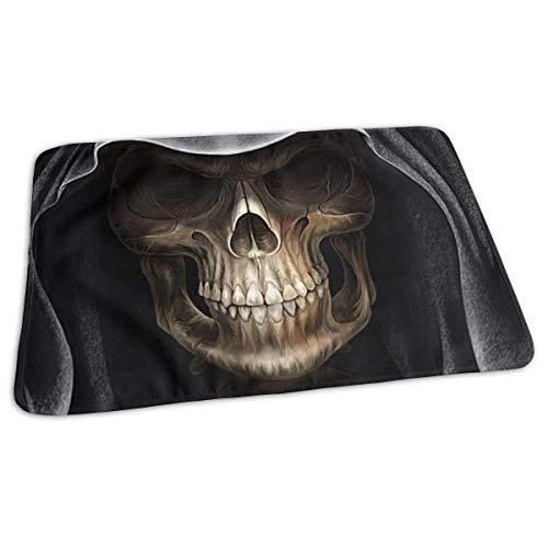Voxpkrs Baby Changing Pad Liners Scary Skull Wearing Black Hat Print Weiche Wickelauflage für Jungen Mädchen 25.5