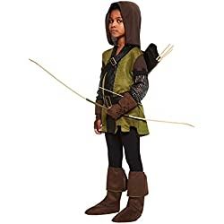 Robin Hood Boys Fancy Dress Prince of Thieves Book Day Kid Childrens Costume New (Small Ages 6-8 Years)