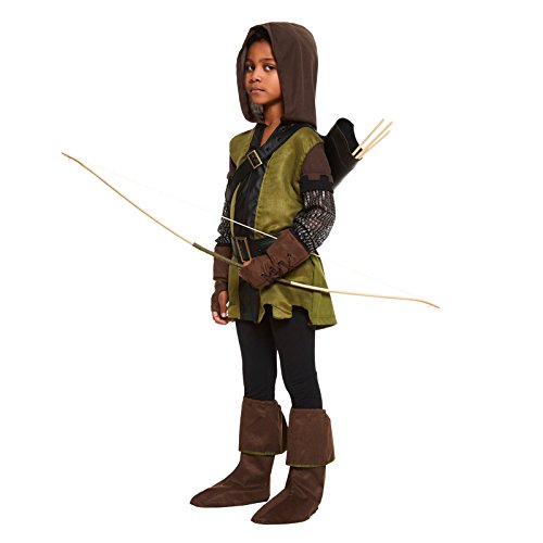 Robin Hood Jungen Kostüm Prinz von Diebe Büchertag Kid Kinderkostüm New - Mehrfarbig, 116-128