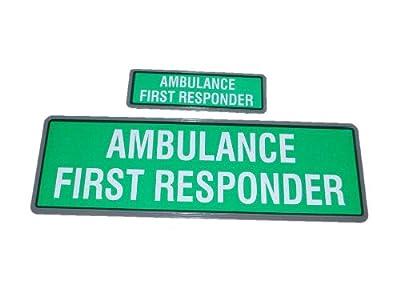 Green Ambulance First Responder Reflective Badge
