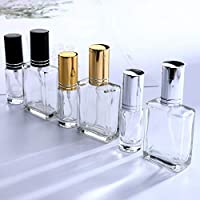 YUFENG Clear Glass Refillable Perfume Atomizer Bottle Aftershave Atomizer Empty Spray Bottle (Set of 6)