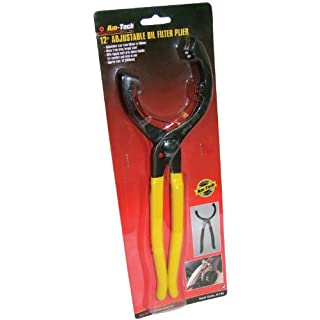 Cutting-Edge Am-Tech 12-inch Adjustable Oil Filter Plier - (Eco Packaging)