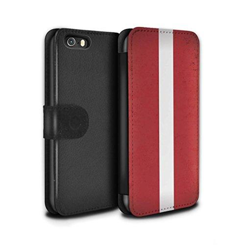 Stuff4 Coque/Etui/Housse Cuir PU Case/Cover pour Apple iPhone 7 Plus / Union Européenne/Ue Design / Drapeau Europe Collection Lettonie/Letton