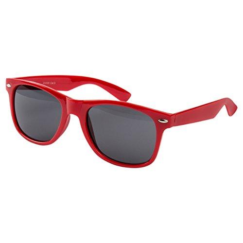 Ciffre EL-Sunprotect Nerdbrille Brille Nerd Sonnenbrille Hornbrille Streber Rot