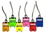 iClue Etichette Bagagli Aereo Valigie Borse Borsoni Sport Trolley Zaini Viaggio Scuola Identificatori Bag Tag Plastica PVC Resistente Accessori Multicolori 2°Generazione (6 Pezzi)