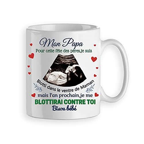 Mug personnalisé pour les papas,annoncer une grossesse, cadeau fête des pères ou anniversaire