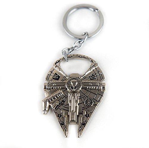 Lzy-store Star Wars Faucon Millenium Porte-clés/décapsuleur Argenté