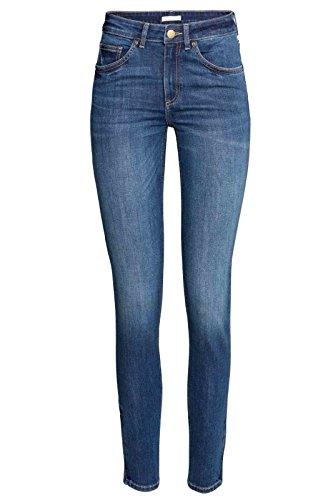 Elegant Vap Ladies Denim Jeans Slimfit Stretch Denim Pants Trousers (Medium Denim, 12)