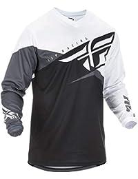 Fly Racing Camiseta De MX 2019 F-16 Negro-Blanco-Gris (M