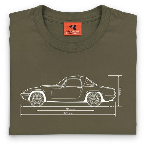 Elan Type 26 Classic Car T-Shirt, Herren Olivgrn