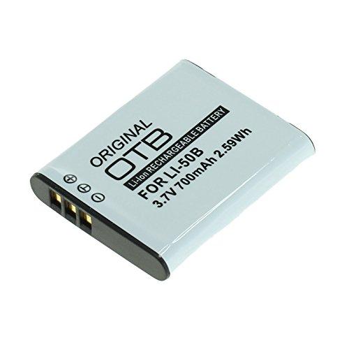 OTB Akku für Olympus Li-50B / Pentax D-Li92 / Ricoh DB-100 Li-Ion Schwarz