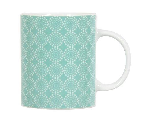 Novastyl 8012933.0 Galactic Pastel Mug Porcelaine Vert 30 ML Lot de 6