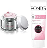 Lakmé Perfect Radiance Fairness Day Creme 50 g & Pond's White Beauty Spot Less Fairness Face Wash, 200 g