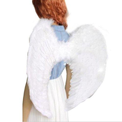 Imagen de sa  alas de plumas para disfraz de ángel o de ave niños y adultos negro talla 52*39cm