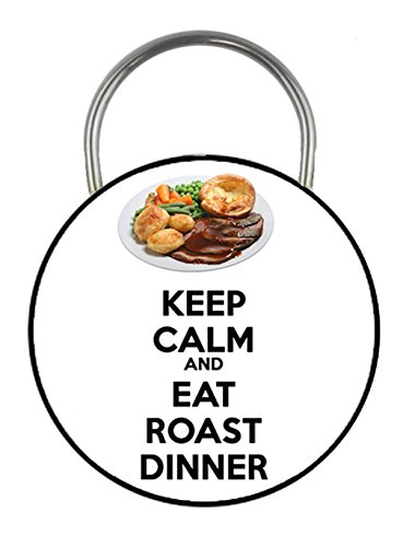 keep-calm-and-eat-roast-dinner-printed-double-sided-key-ring-45mm-keyring-button-novelty-gift
