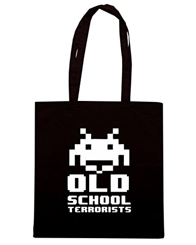 T-Shirtshock - Borsa Shopping TR0109 Old School Terrorists T-Shirt Nero
