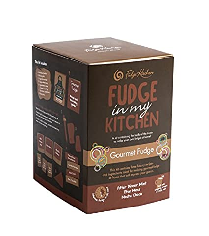 Fudge Kitchen - Gourmet Chef Make at Home Fudge Kit Makes around a 1kg of Fudge Ingredients - Instructions and Tools to make 3 delicious flavours of fudge - Gluten Free - Vegetarian Friendly