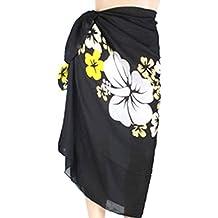 PRESKIN - Sommerlicher Sarong Pareo Wickelrock Schal Halstuch Bikini Cover Up für den Strand | leuchtende Farben | hoher Tragekomfort