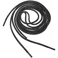 Cordones de zapato - TOOGOO(R) Cordones de cuerda redonda 3M reflectante de zapatos de carrera (estilo-B negro)