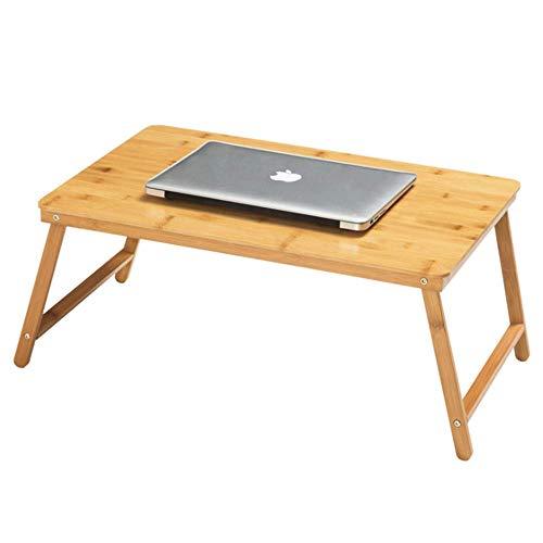 Shamdon Home Collection Laptop-Tablett mit klappbaren Beinen, Knietisch für Sofa, Couch, Boden, Bett, Frühstück, Schreiben beige