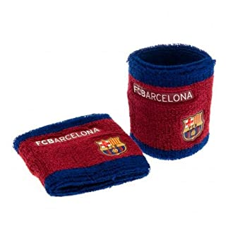 FC Barcelona Football Club Soccer Blue Maroon Sweatbands Wristbands Badge