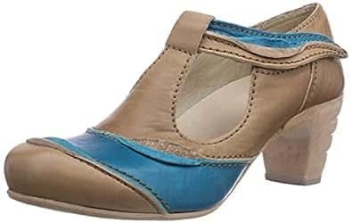 Rovers Samba pa ti, Chaussures à talons avec bride style salomés femme - Beige - Beige (almond/turquesa), 42 EU