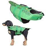 PPING Salvagente Cane Squalo Salvagente Cane Giacche per Cani Impermeabili Giubbotti di Salvataggio per Animali Domestici Giacca Antipioggia per Cani 02green,m