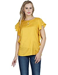 5b94fbcdb4 Patrorna Blended Girl s Raglan Sleeve Crop Tops in Mustard Yellow  (LG6S050MU)