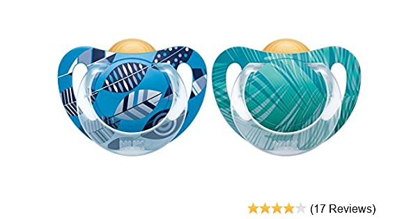 NUK Genius Color Latex-Schnuller,kiefergerechte NUK Form,zahnfreundlich Neu 2016