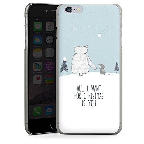 Apple iPhone X Silikon Hülle Case Schutzhülle Weihnachten Freundschaft Winter Hard Case anthrazit-klar