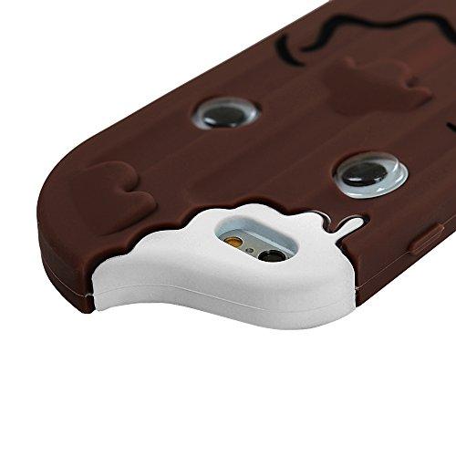 YOKIRIN iPhone 6 / iPhone 6S Custodia Gelato Mossa occhi Case Cover in silicone Protettiva Portafoglio Cover Protettivo Copertura -marrone marrone