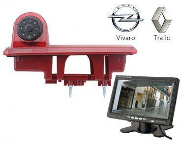 YMPA Rückfahrsystem Einparkhilfe Transporter für Renault Trafic und Opel Vivaro ab Baujahr BJ 2014 Rückfahrkamera mit Monitor 17,8 cm 7 Zoll Inch 10 Meter Kabel Farbe IR Nachtsicht RFS-RO+ST7