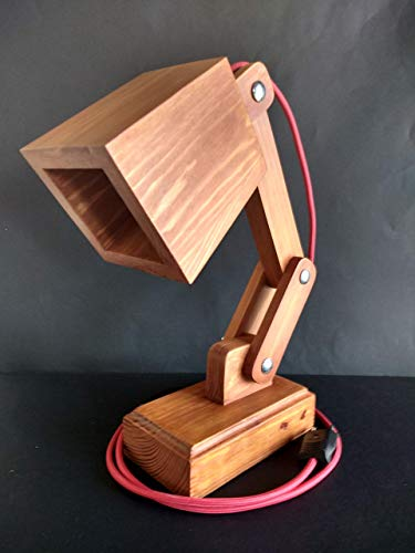 Lámpara de madera reciclada de palet