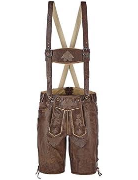 kurze Buffalo-Lederhose für Herren aus Echtleder im