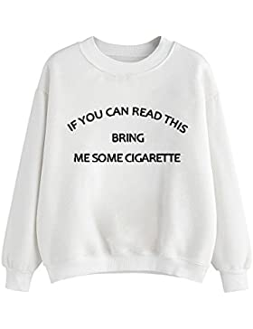Ularma Camiseta de las mujeres, Carta impreso blusa de manga larga camiseta