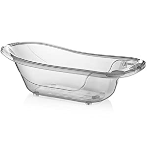 Large 50 Litre Aqua/Clear/Transparent Baby Bath Tub