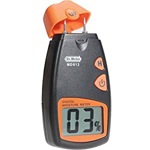 Dr. Meter Wood Moisture Meter MD-812 with Digital LCD Display - To Measure the Percentage of Water in Given Substance
