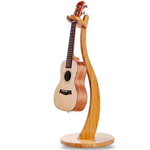 AFCITY Gitarrenständer, Abnehmbare Volle Massivholz Bambus Violine Regal Ukulele Kleine Vier-saitige Gitarrenständer Kreative Musikinstrumentenständer für Akustikgitarre & E-Gitarre, (Farbe : Braun) -