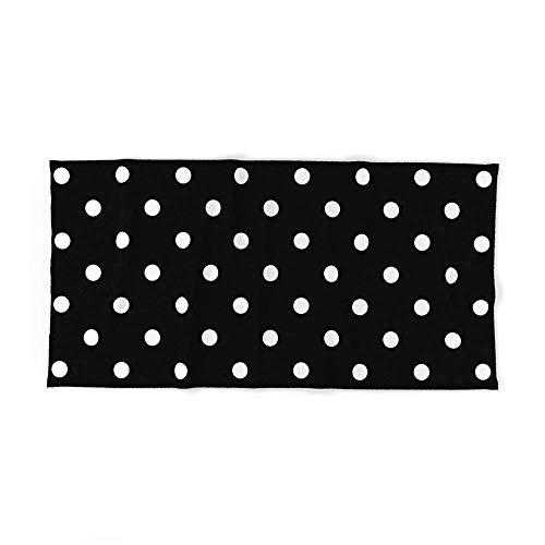 Toalla de baño, diseño de Lunares, Color Blanco y Negro