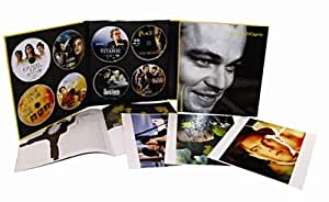 Coffret Leonardo di Caprio 8 DVD + jeu de photos - Titanic - Gilbert Grape - Roméo + Juliette - La Plage - Gangs of New York - Aviator - Les Infiltrés - Blood diamond