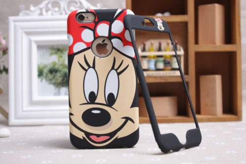 Disney Minnie Mickey Mouse Face iPhone/Samsung, Front & Back Plate, iPhone 6