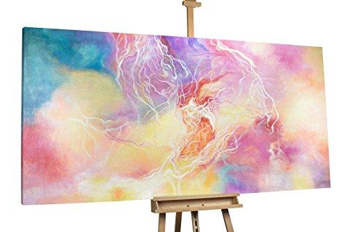 'Electric Love' 200x100cm | Abstrakt Gelb Lila Music XXL | Modernes Kunst Ölbild